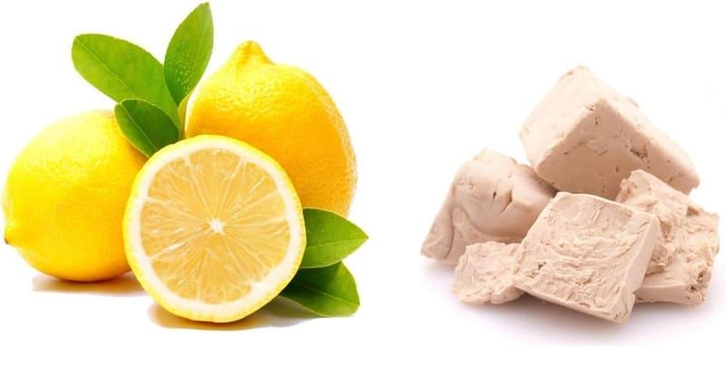 Маска на дрожжах и лимонном соке
