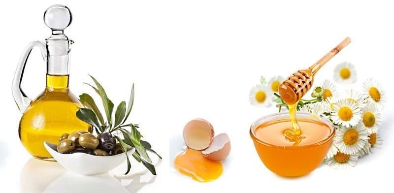 Смягчающая маска для лица на основе желтка, меда и растительного масла
