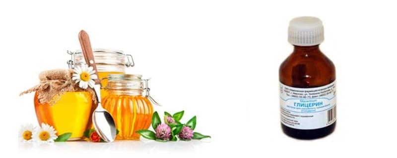 Маска из мёда и глицерина