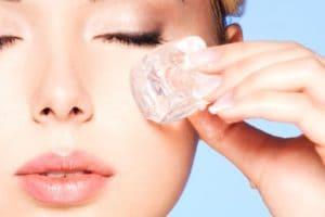 Польза льда для кожи лица