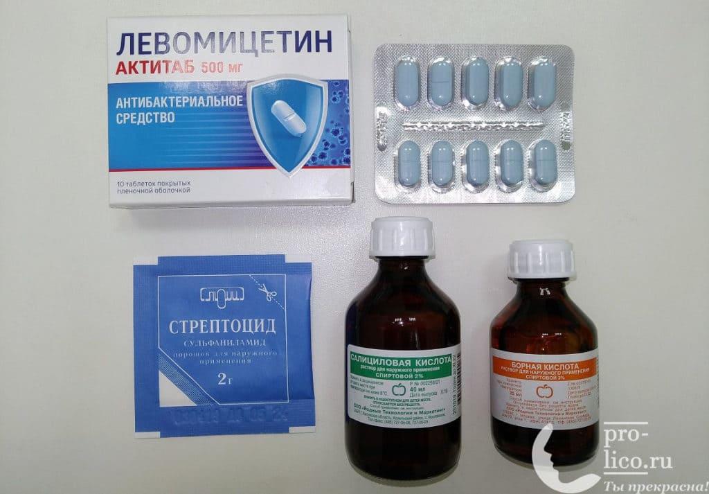Болтушка с левомицетином и стрептоцидом