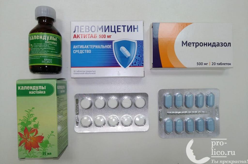 Болтушка с левомицетином и метронидазолом
