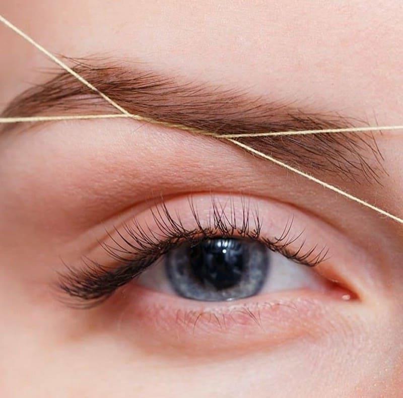 Тридинг или удаление нежелательных волос с помощью нитки