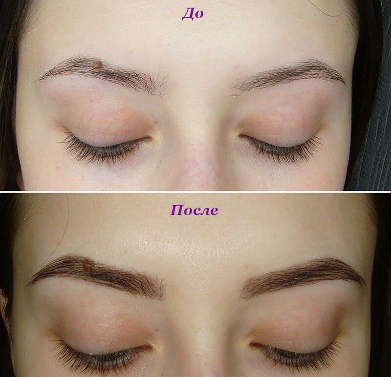 Фото до и после окрашивания краской Эстель