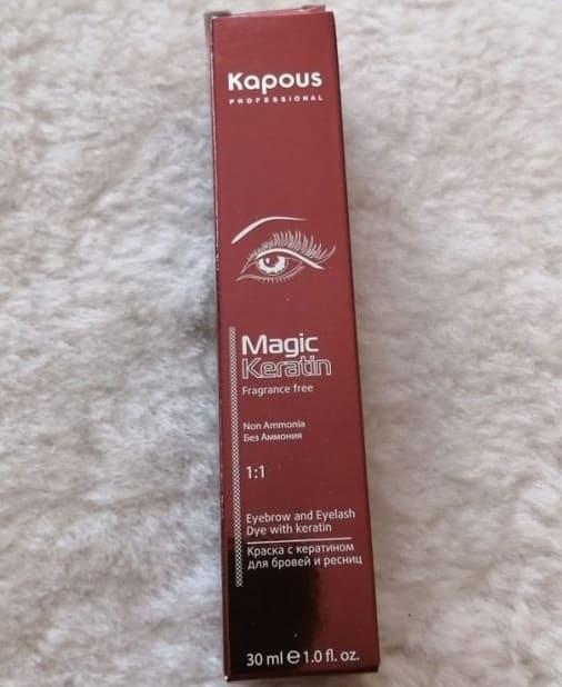 Профессиональная краска для бровей и ресниц Kapous