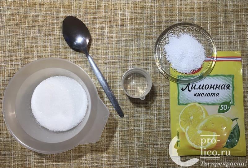 паста для шугаринга в домашних условиях с лимонной кислотой