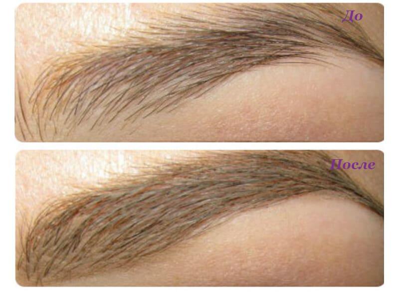 Карандаш для бровей Essense light brown фото до и после