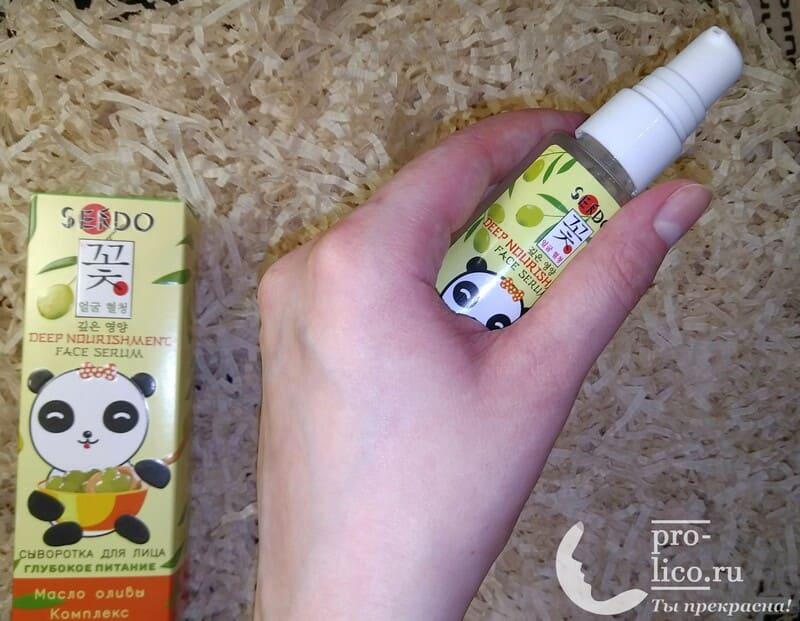 Сыворотка для лица Sendo глубокое питание с маслом Оливы - мой отзыв, разбор состава, плюсы и минусы