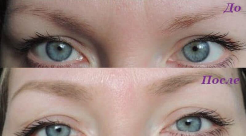 Помада для бровей летуаль фото до и после