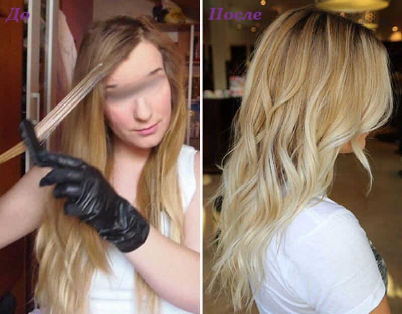 Рекомендации по обесцвечиванию волос гидроперитом фото до и после