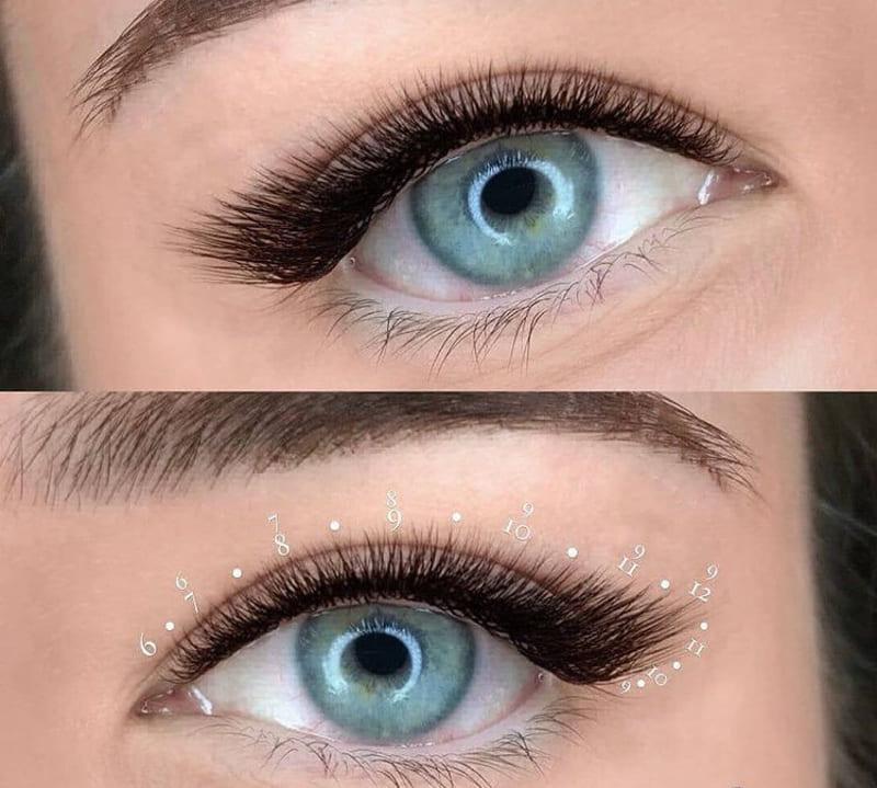 Техника наращивания ресниц с эффектом кошачьих глаз