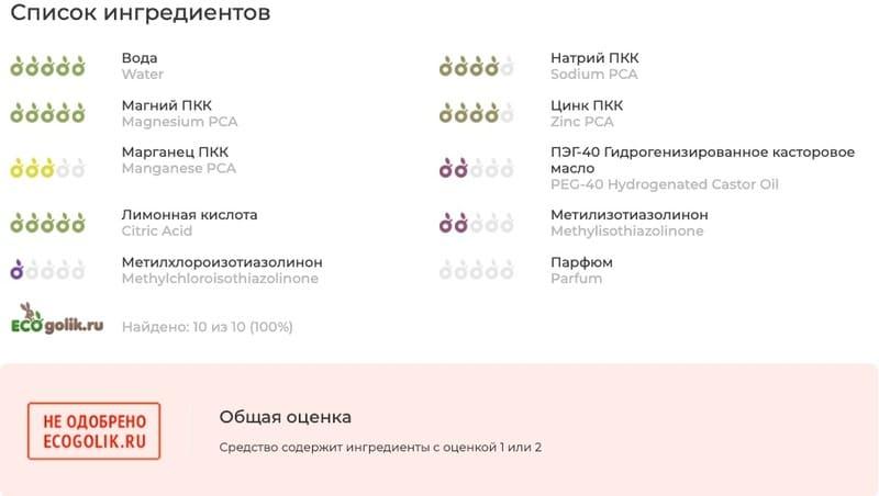 Aqua-спрей «Витамины для лица» от Novosvit состав
