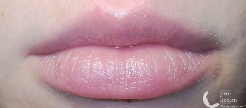 Питательно-восстанавливающий бальзам для губ SOS от Eveline фото до и после