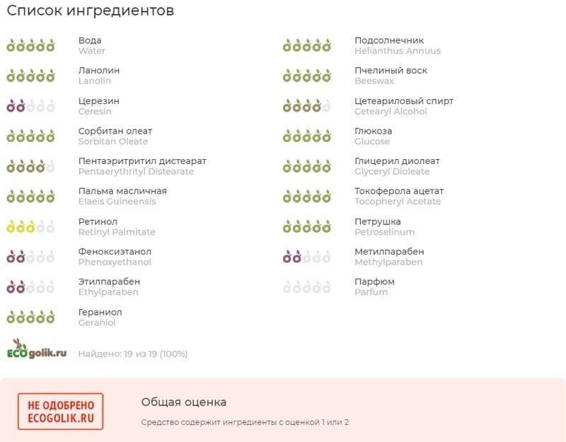 """Крем для лица Свобода """"Вечер"""" состав"""
