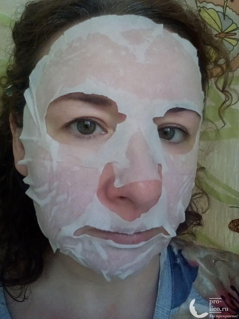 """Мой отзыв на корейскую тканевую маску для лица Skinapple """"С огурцом. Увлажнение"""" лекало"""