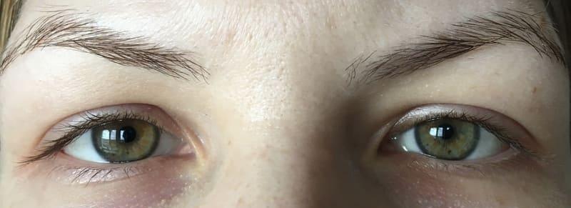 Мыло для бровей Kiss Beauty 3D Eyebrow Styling Soap до и после