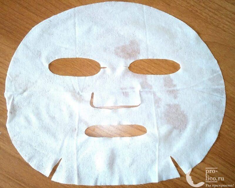 """Тканевая маска для лица Meadow с ледниковой водой """"Камелия и аргановое масло"""" от Mi-Ri-Ne лекало"""