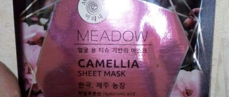 """Тканевая маска для лица Meadow с ледниковой водой """"Камелия и аргановое масло"""" от Mi-Ri-Ne"""