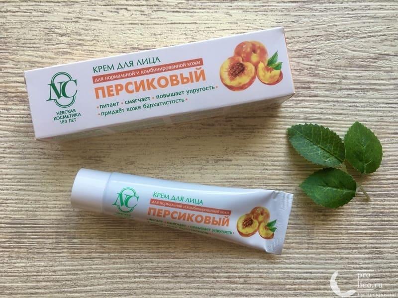 Крем для лица «Невская косметика Персиковый» для сухой и чувствительной кожи