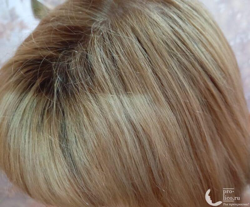 """Ламинирующий шампунь """"Красный пион"""" Elseve, L'Oréal Paris для окрашенных или мелированных волос фото до и после"""