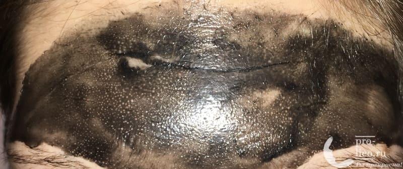 Маска-пленка для лица Compliment Black Mask Co-Enzymes толстым слоем