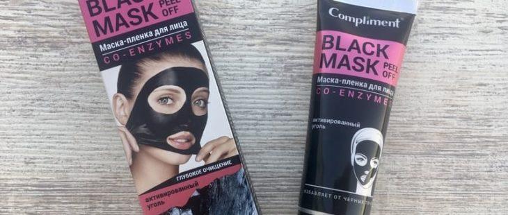 Маска-пленка для лица Compliment Black Mask Co-Enzymes