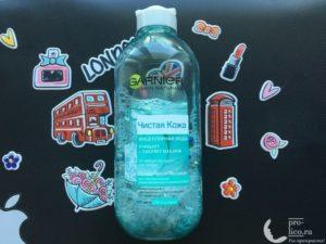 Мицеллярная вода Garnier «Чистая кожа» для чувствительной комбинированной и жирной кожи — мой отзыв, разбор состава, плюсы и минусы