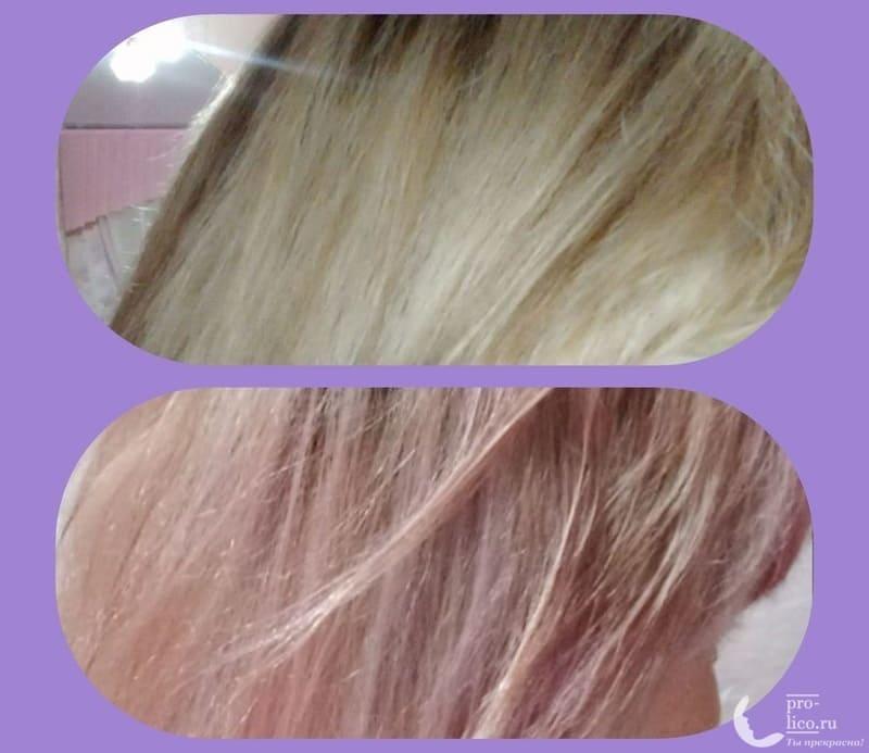 оттеночный бальзам для волос Fara Glam Color до и после