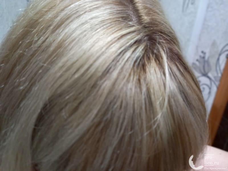 Оттеночный бальзам для волос Palette Пепельный блонд фото до и после
