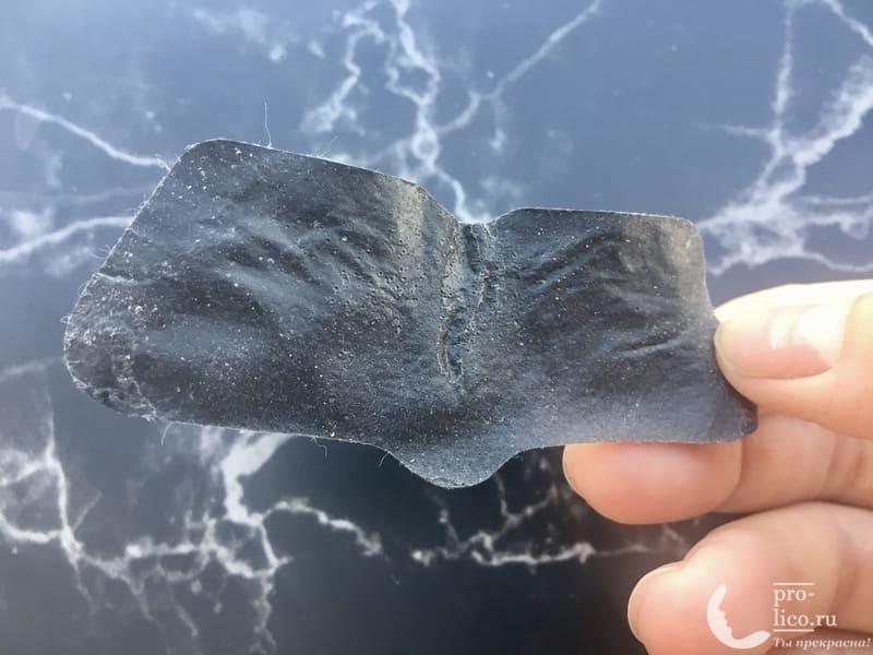 Очищающие полоски для носа Пропеллер с активированным углем фото после