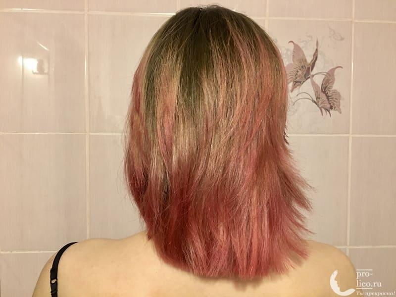 Пигмент прямого действия «Розовый фламинго» Concept Fashion Look фото до и после