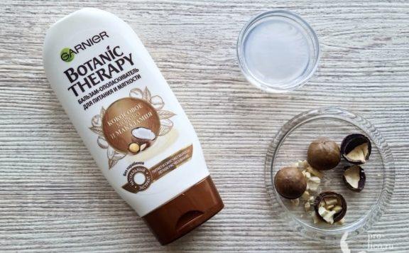 Бальзам-ополаскиватель Garnier Botanic Therapy Кокосовое молоко и Макадамия