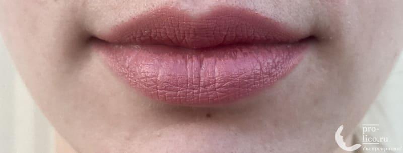 Губная помада Maybelline Color Sensational фото после нанесения