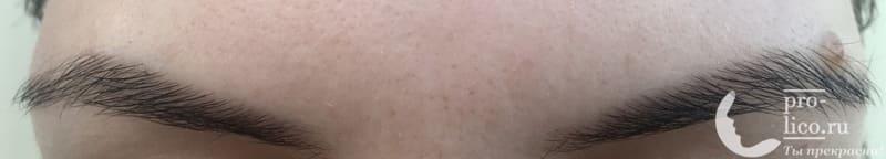 Хна для бровей и био тату Grand Henna фото через неделю после