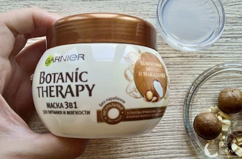 Маска для волос Garnier Botanic Therapy 3 в 1 Кокосовое молоко и Макадамия