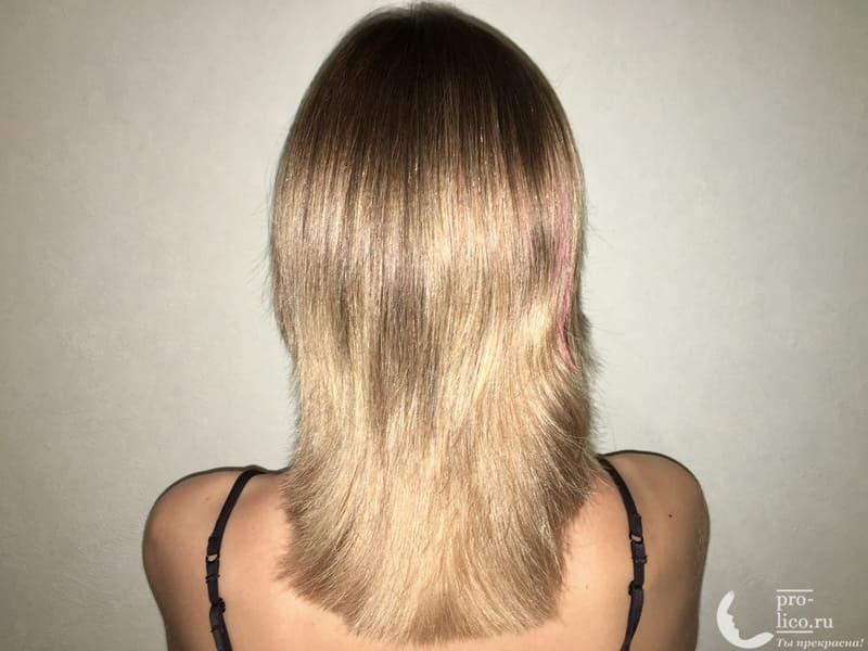 Масло репейное для волос Мирролла с крапивой фото после