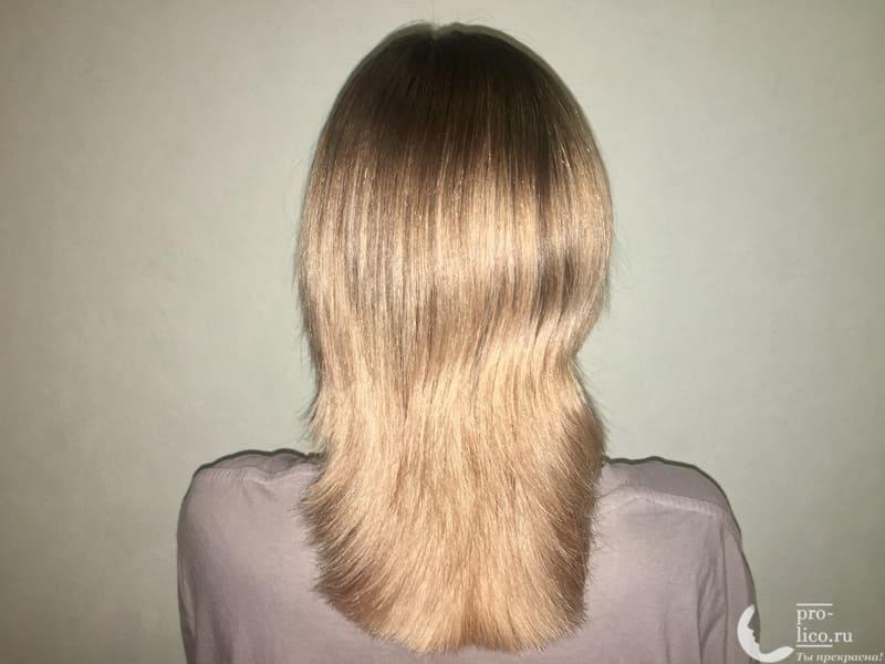 Шампунь Мирролла Репейный для укрепления волос с витаминами фото после