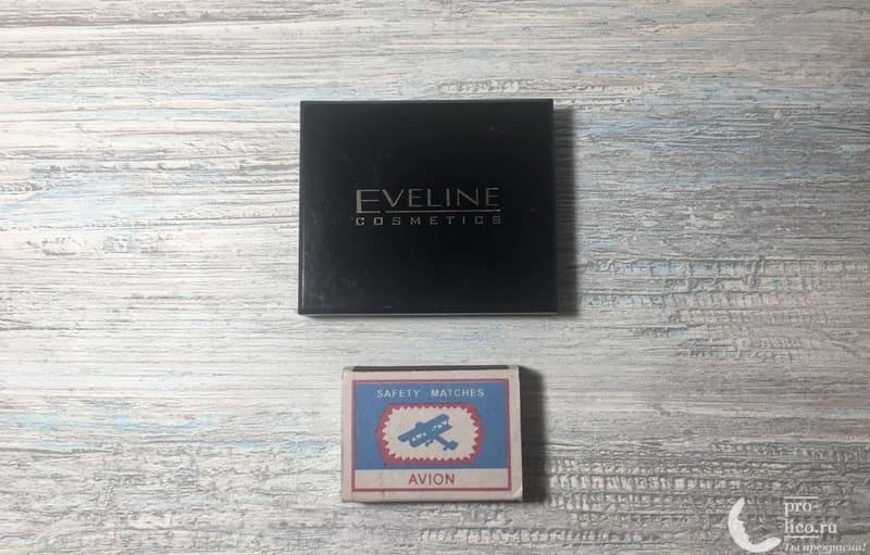 Бархатистая компактная пудра Eveline размер