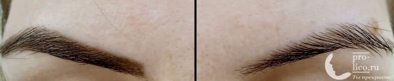 Карандаш для бровей Relouis / Релуи Пудровый механический Brow Wow фото до и после