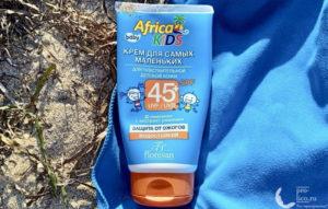 Солнцезащитный крем Floresan Africa kids «На суше и на море» SPF 45+ — мой отзыв, разбор состава, плюсы и минусы