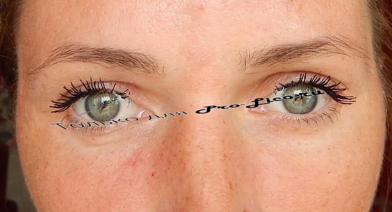 Тушь для ресниц Lash Sensational веерный объем от Maybelline фото макияжа