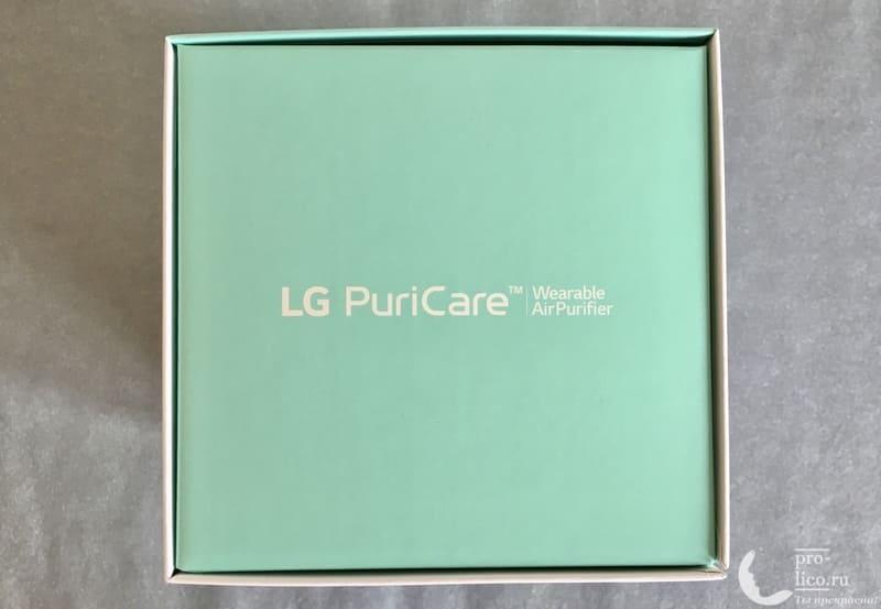 Маска-очиститель воздуха LG PuriCare коробка