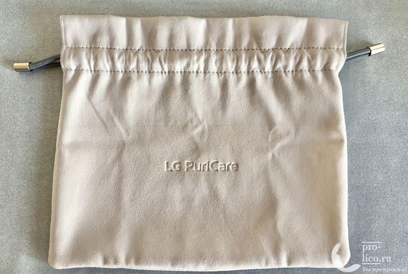 Маска-очиститель воздуха LG PuriCare сумка
