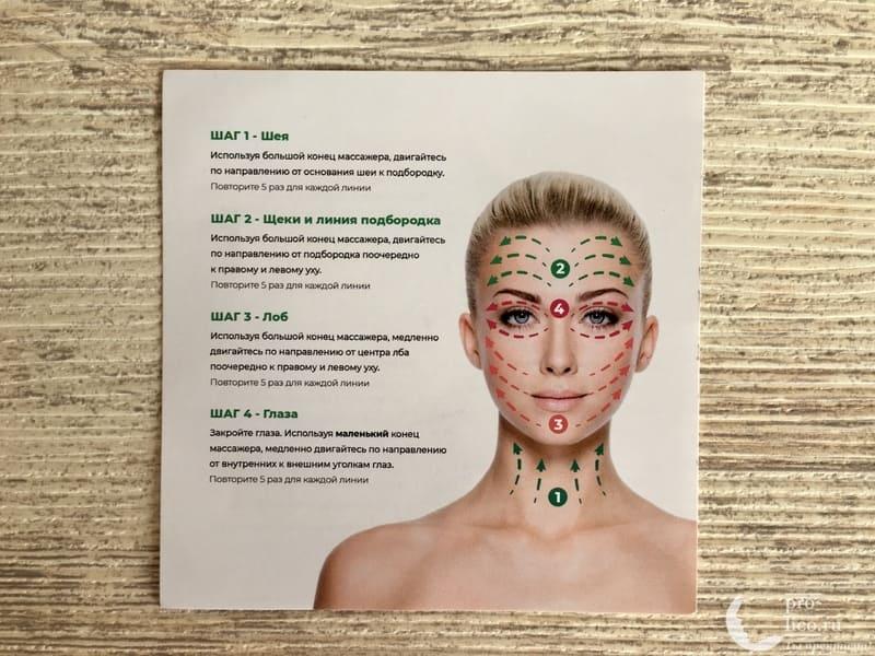Набор «Facial massage roller» нефритовый ролик и скребок гуаша массажные линии