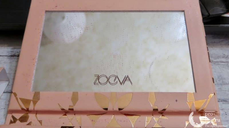 Палетка теней Zoeva Precious зеркало