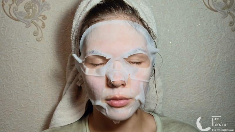 Тканевая маска для лица CONSLY Nourishing «Mango» маско на лице