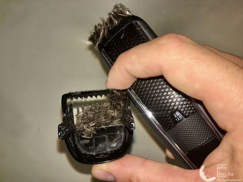 Триммер Philips Series 5000 забиваются волосы