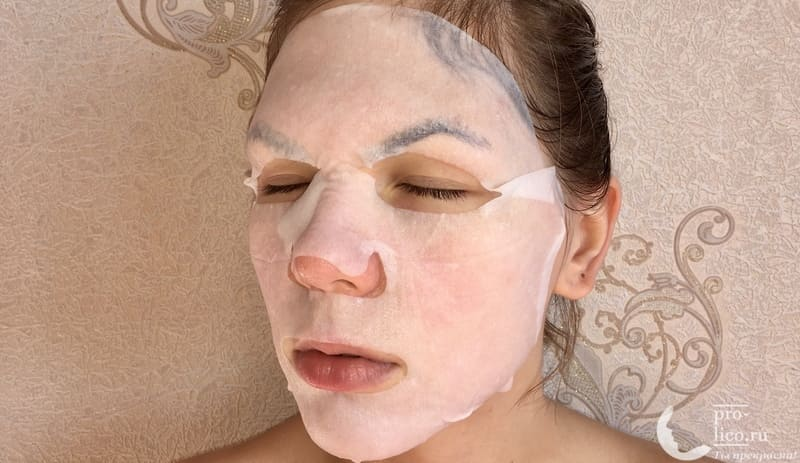 Тканевая маска Little Devil с экстрактом папайи «Омоложение и сияние кожи» лекало
