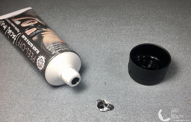 Угольная маска-пленка для кожи лица PEEL-OFF Black Glits&Glam контроль вскрытия