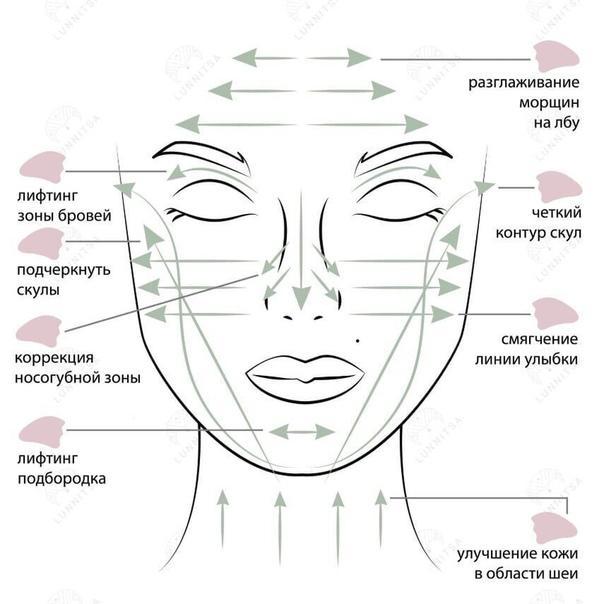 схема массажа гуа ша